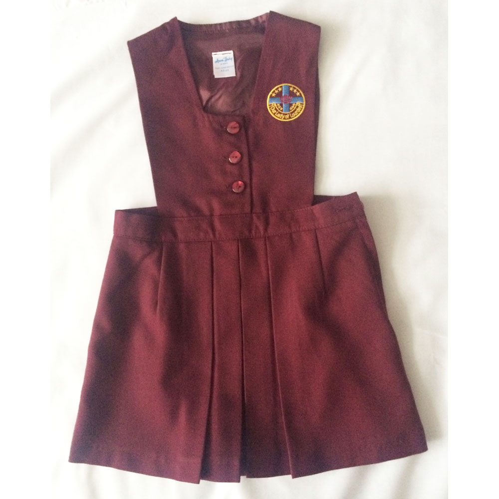 our lady of lourdes pinafore