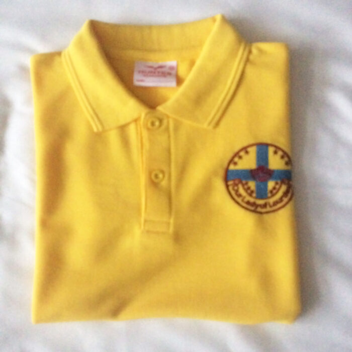 our lady of lourdes polo shirt